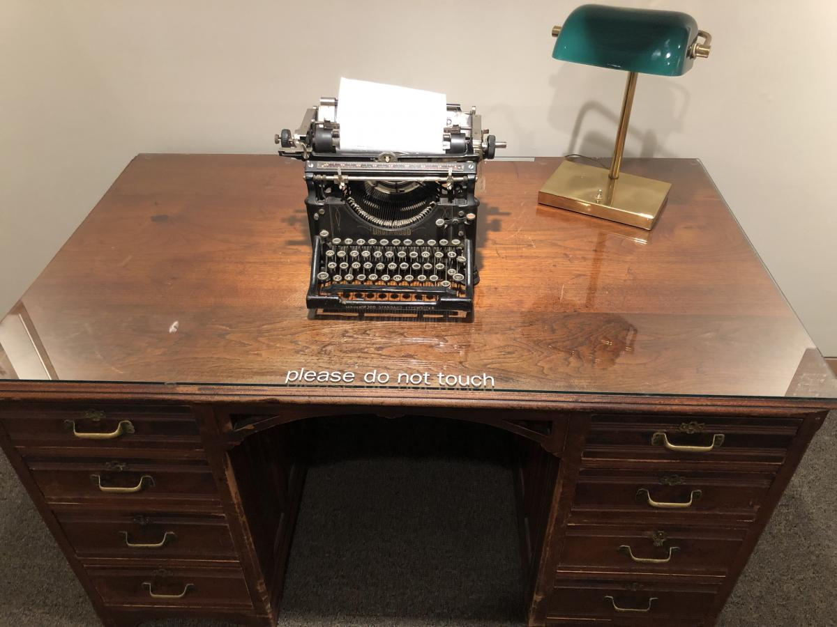 James Hearst's desk