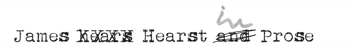 James Hearst and Prose logo